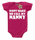 CALL MY NANNY Baby Vest Cerise/Pink & White 100% Cotton Cheeky Chaps