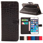 Crocodile Pattern PU Leather Wallet Folio Case For iPhone 6+, iPhone 6 Plus