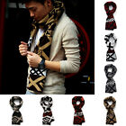 Men's Classical Warm Crochet Jacquard Knitting Wool Scarf Length 175 cm 7 Colors