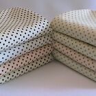 Polka Dot on Cream Fabric FAT QUARTER - Approx 3mm Spots 100% Cotton Spotty.