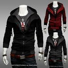 Mens Slim Fit Sexy Top Designed Hoodies Jackets Coats 3Color 4Size
