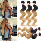 "Ombre Hair Extensions Brazilian Virgin Hair Body Wave 1b27# Hair Weave 10""-30"""