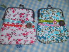 Ribbons & buttons Floral Flower Fabric  Clasp Purse 2 Designs You Choose