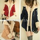 Free Shipping Women Korean New Collar Type Warm Coat Double Breasted Jacket FUS