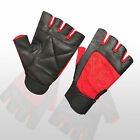 Weight Lifting Gloves Gym Padded Leather Fitness Training Body Building Red New