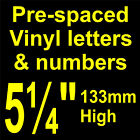 "QTY of: 2 x 5¼"" 133mm HIGH STICK-ON  SELF ADHESIVE VINYL LETTERS & NUMBERS"