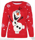 Frozen Olaf Frozen Christmas Jumper Sweater Top Xmas Jumpers Plus Sizes