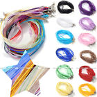 2pc 4mm Organza Voile String Ribbon Necklace Silk Cords Colorful Adjust DIY Gift
