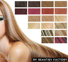 """Beauties Factory Clips in Straight Remy Human Hair Extension Blonde Brown 18""""20"""""""