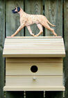 Bird House W/ Great Dane (Natural) on Peak. Home,Yard & Garden Dog Products