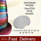 Silver Cakeboards 12mm Thick ROUND Cake Boards Choose your own size