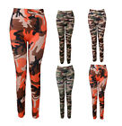 High Waist Womens Seamless Slim Camouflage Spandex Skinny Stretch Leggings Pants