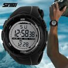 Military Mens Boy LED Digital Stopwatch Date Waterproof Rubber Sport Wrist Watch