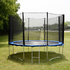 12 FT Trampoline Combo Bounce Jump Safety Enclosure Net W Spring Pad Ladder