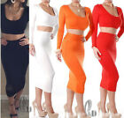 SEXY WOMENS TOP+SKIRT 2PCS SET BANDAGE PARTY CLUBWEAR DRESS AU SELLER DR120