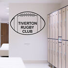 PERSONALISED RUGBY BALL WALL ART STICKER SPORT DECAL VINYL GRAPHIC TRANSFER