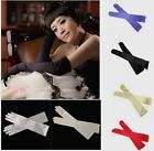 Ladies women Long Opera Satin Party Wedding/Fancy/Cosplay Gloves  4 Colour New