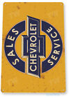 "TIN SIGN ""Chevrolet Sales"" Metal Decor Wall Art Garage Auto Shop A290"