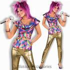 CL85 80s Video Star Pop Madonna Diva 1980s Fancy Dress Women Costume Outfit