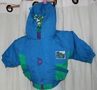 New Baby Fleecy Lined Hooded Jacket in Blue or Green Size 6-12 M FREE P&P
