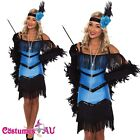 Ladies 20s 1920s Charleston Flapper Chicago Fancy Dress Costume Black Boa