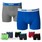 Puma Boys Boxer Shorts 2P Soft Feel Fabric Sports Athletic Pants - Two Pair Pack