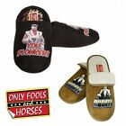 Only Fools & Horses - Del Boy Slippers - Mens Mules Shoes - New Del Boy Rodney