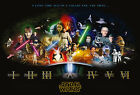 Star Wars Cast Giant Poster - A0 A1 A2 A3 A4 Sizes $19.08 CAD on eBay
