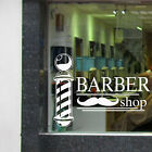 BARBER SHOP SIGN - Window Sticker Transfer Pole Mustache Vinyl Hair Wall Art