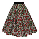 1940's 1950's Vintage Floral Unique Circle Cotton Jive Swing Skirt New 8 - 12