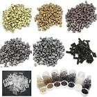 1000 Pcs Silicone Micro Link Ring Crimp Beads Shrink for Feather Hair Extensions
