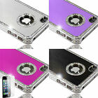 Diamante Jewelled Bling hard case cover for iphone 4 4s 5 5s + Screen Protector