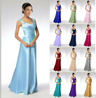 Simple satin Formal Evening Dress Bridesmaid Dress Size 6+8+10+12+14+16++