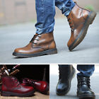 X259 New Men's Leather Lace Up Boots