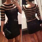 2014 New Women Sequins Bodycon Slim Cocktail Clubwear Evening Party Mini Dress