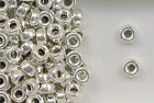 Sterling Silver Beads, 7mm Plain Flat Round Design, New