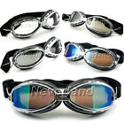 Motorcycle Bike Scooter Aviator Pilot Cruiser Vintage Goggles Protective Glasses