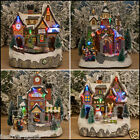 MULTI COLOUR LED INDOOR CHRISTMAS XMAS MUSICAL VILLAGE SCENE DECORATION LIGHT