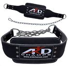 ARD Dip Belt Weight Lifting Dipping Chain Gym Training Body Building Leather