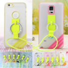 Soft Cell Phone Case with Neck Strap for iPhone 6 6 Plus Samsung Note 4