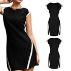 Chic Women Sleeveless Slim Bodycon Club Party Cocktail Bandage Dress Black Dress