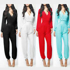 New Women's Sexy Long Sleeve Clubwear Party Dress Bandage Jumpsuits Cocktail