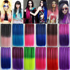 Fashion Human Made Synthetic Straight  3/4 Full Head Clip in Hair Extensions