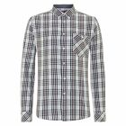 MENS MERC LONDON CHECK LONG SLEEVE SHIRT STYLE LINCOLN  - SKY