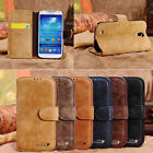 Genuine Cow Leather Flip Credit Card Slot Stand Cover Case Wallet For Note 4 3 2