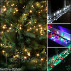 720 LED MULTI ACTION INDOOR OUTDOOR CLUSTER CHRISTMAS XMAS STRING TREE LIGHTS 9M