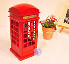 Wooden London Telephone Booth Sankyo Music Box With Over 30 Melodies Choice