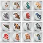 Cute Nursery Animal Monkey Ceramic Knob Pull Cabinet Cupboard Kitchen Pantry