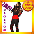 I50 Sexy Deadly Spirit Ninja Samurai Master Adult Halloween Fancy Dress Costume