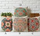 Cotton/Linen Cushion Cover Shell Throw Pillow Case Chinese Japanese floral 1 pc